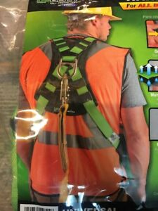 Safety Harness Body Fall Protection Easy Wear Green Harness Upgear H513002
