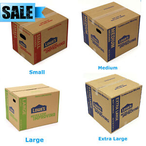 5 pack Cardboard Boxes Moving Plain Shipping Packing Supplies Multiple Sizes