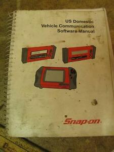 Snap On Us Domestic Vehicle Communication Software Manual Jan 2004 Scanner