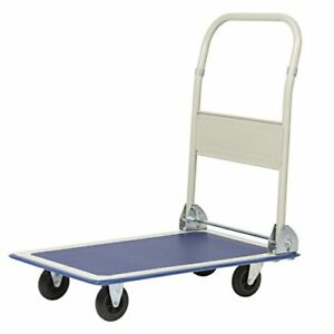 Best Choice Products 330lbs Platform Cart Folding Dolly Foldable Warehouse Mov