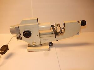 Vintage Essel Microscope Made In Paris France No 7946 Collectable