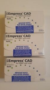 Ips Empress Cad Cerec Inlab Dental Blocks Blocs Dentist Lot 3 Boxes Block Bloc