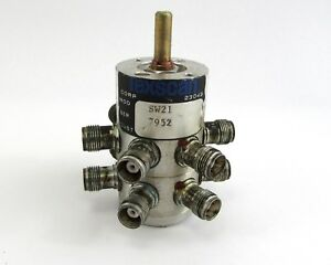 Texscan Sw21 Rotary Switch Rf Tnc Jack Connectors 4 Pole 2 Throw