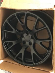 15 16 17 Dodge Hellcat Matte Black Oem Wheel