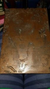 Antique Big Printing Printers Letterpress Wood Copper Block Santa Claus Toys Cat
