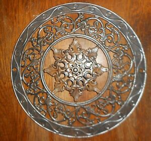 Antique Cast Iron Round 15 Heat Grate Stove Pipe Register Cover Ornate
