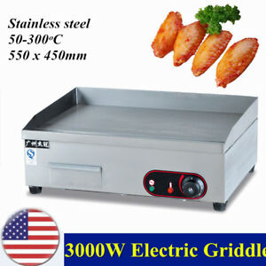 Griddle Grill Machine Warmer Electric Commercial 3000w Teppanyaki Scoop Machine
