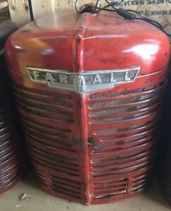 Vintage Farmall Tractor Grill With Interior Light