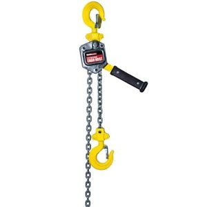 1 4 Ton Lever Manual Chain Hoist Lift Heavy Loads Safe Brake 500lb 5ft High New