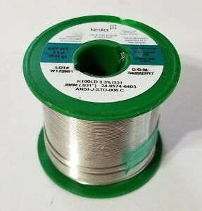 1lb Kester Solder Lead Free 031 K100ld Tin copper Water Soluble 24 9574 6403