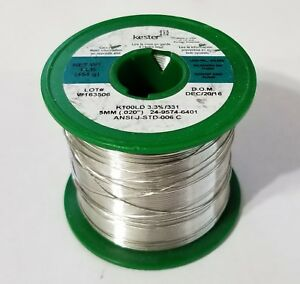1lb Kester Solder Lead Free 020 K100ld Tin copper Water Soluble 24 9574 6401