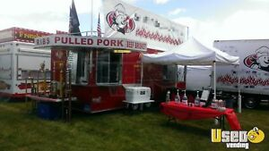 8 3 X 22 Bbq Concession Trailer With Porch Truck For Sale In Ohio
