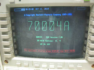 Agilent Hp 70004a Color Display And Mainframe