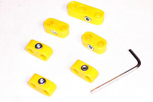 Spark Plug Wire Seperators Yellow 6 Piece Kit Dunebuggy Vw