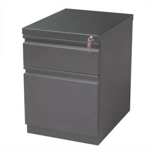 Scranton Co 2 Drawer Mobile File Cabinet In Charcoal