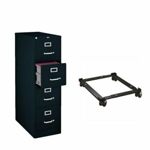 2 Piece Filing Cabinet And File Caddy Set In Black