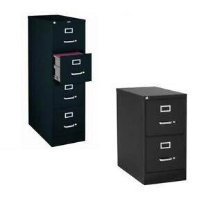 value Pack 2 Drawer And 4 Drawer Letter File Cabinet In Black