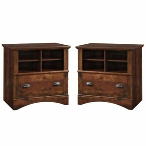 set Of 2 Rustic 1 Drawer Lateral File Cabinet In Curado Cherry