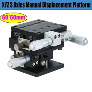 60x60mm Xyz Axis Linear Stage Adjustable Manual Displacement Platform Sliding Gh