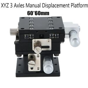 Xyz 3 axis Trimming Platform Linear Stages Bearing Tuning Sliding Table 60 60mm