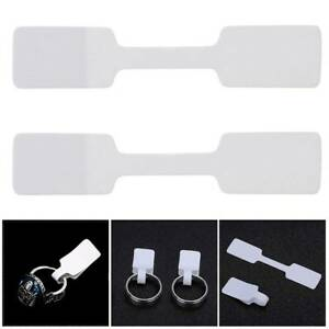 100pcs Paper Jewelry Display Packaging Tags Label Paper Sticker For Rings Size