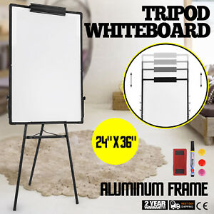 Tripod Mobile Dry Erase Board 36 24 Magnetic Single Sided Whiteboard Stand