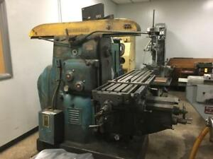 Cincinnati Model 3 Horizontal Mill With Vertical Head And Tooling