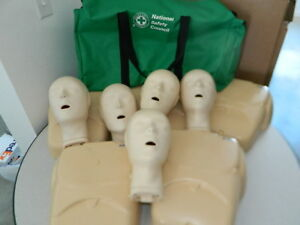 5x National Safety Council Cpr Prompt Cpr Training Emt Manikins Mannequins