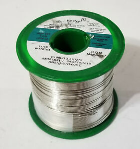 1lb Kester Solder Lead Free 031inch K100ld Eutectic Tin copper 24 9574 7618 New