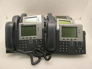 Lot 8 Cisco Cp 7941g 4 line Ip Phone With Damaged Lcd Tested Works