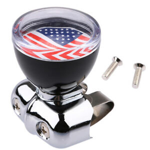 Usa American Flag Steering Wheel Spinner Suicide Knob Handle For Car Truck G