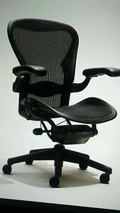 Herman Miller Aeron Mesh Adjustable Office Chair Black Size B Very Comfortable