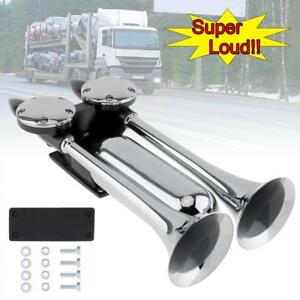 12 24v 130db Super Loud Dual Trumpet Electronically Controlled Air Horns