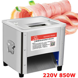 220v 850w Commercial Stainless Steel Meat Cutting Machine Tool Cutter Slicer