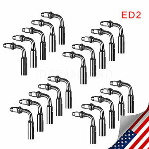 20 Dental Ultrasonic Scaler Endodontic Endo Tips Ed2 Tip For Dte Satelec 24hship