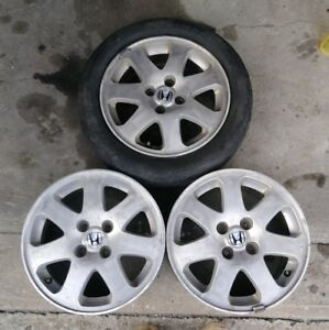99 00 Civic Si 4x100 Wheels 15x6 Set Of 4 Em1 92 Eg 96 Ek Ls Mesh Gsr Blade Rims