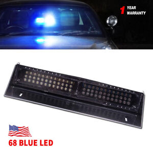 68 Led Windshield Strobe Warning Light Vehicle Dash Board