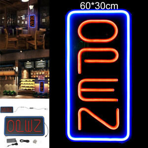 12x24 Vertical Neon Open Sign Light Open Signs Restraunt Business Bar