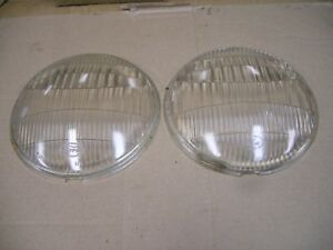 Vintage 1930 s Ford Twolite Head Light Glass Lens No 1887107 7 7 8
