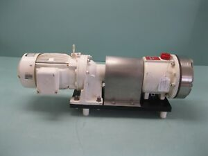 1 X 3 4 Wanner Hydra cell D 10 Positive Displacement Pump 1 Hp Motor P3 2436