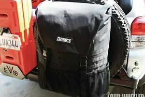 Trasharoo Off road Canvas Bag Black Gen 2 Easily Attaches To Spare Tire