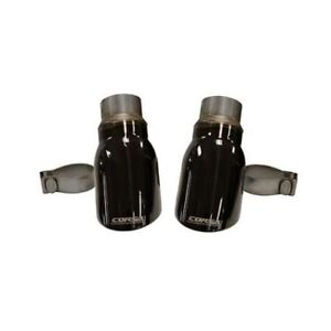 Corsa 14977blk Exhaust Tip Kit Two Single 4 0 Pro Series Tips Black Polished