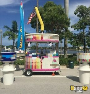2015 5 X 8 Snowie Shaved Ice Concession Trailer For Sale In Florida