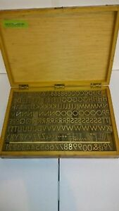Brass Letters Numbers 5 8 Letterpress 1 Blocks Type Printing Press Stamp 202