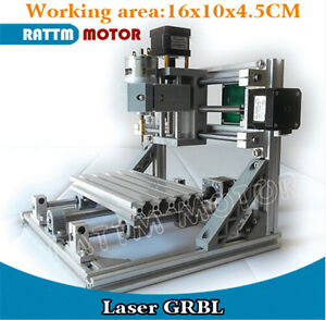 Mini Cnc 1610 Pro Pcb Milling Machine Diy Hobby Wood Router With Grbl Control