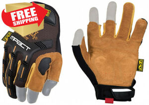 Mechanix Wear Leather M pact Framer Gloves large Black brown