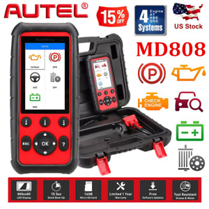 Autel Maxidiag Md808 Auto Diagnostic Tool 4 System Scanner Reader Abs Srs Epb Us