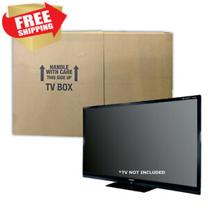 Uboxes Tv Moving Box Flat Screen Fits Tv s 32 To 70 Adjustable Lcd led plasma