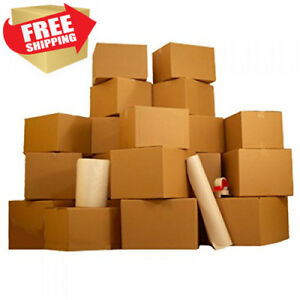 One Bedroom 18 Moving Boxes Basic Kit Boxes Packing Supplies Tape