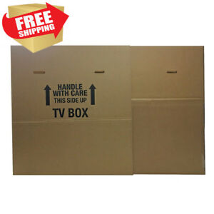 Uboxes Tv Moving Box Fits Up To 70 Plasma Lcd Or Led Tv Size 72x8x42